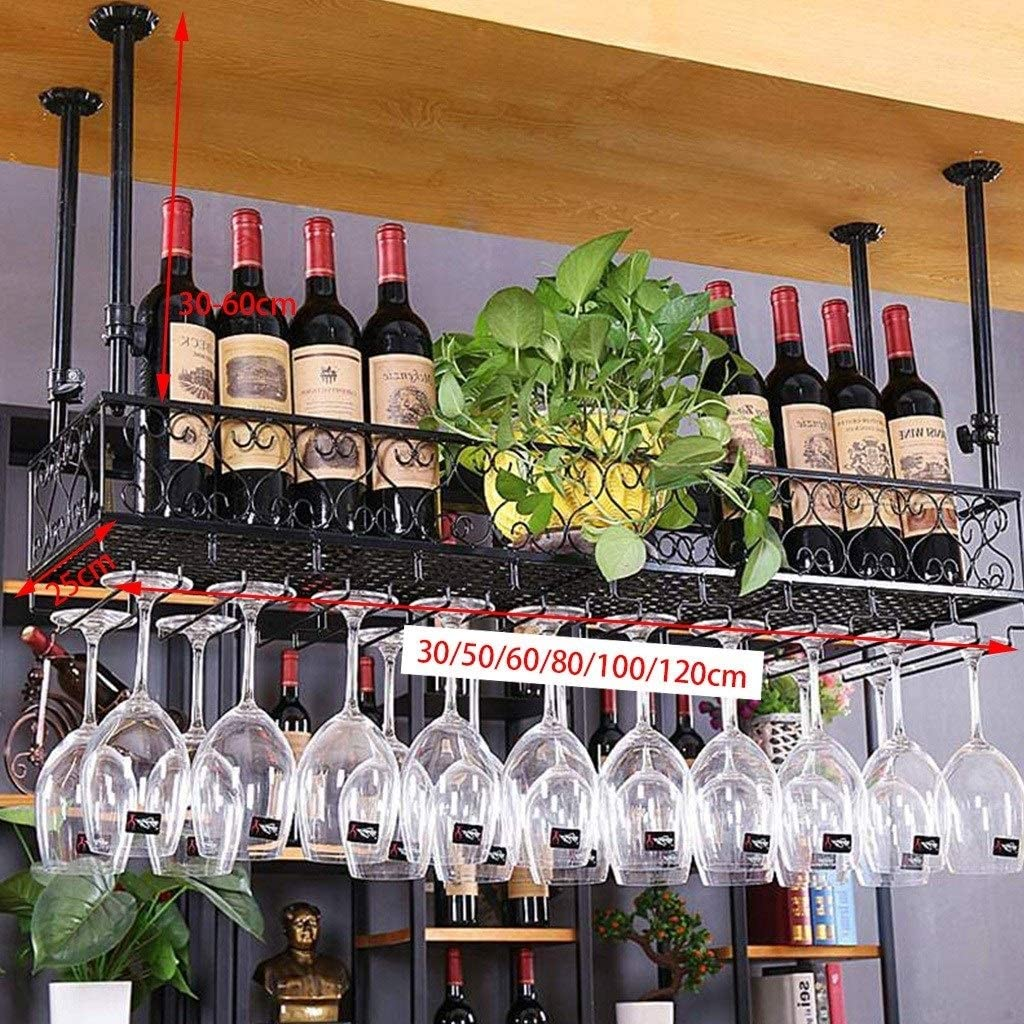 Retro Metal Wine Rack Hierro labrado Estante de Almacenamiento de ...