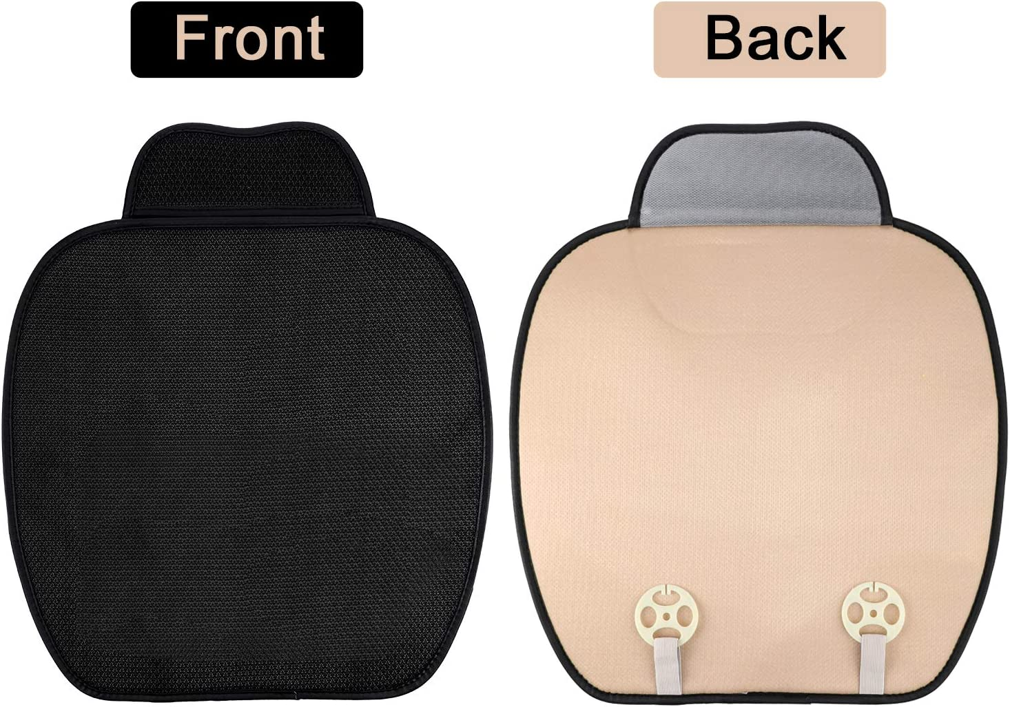 Boao 2 Pieces Car Seat Cushion Pad Car Front Seat Cushion Cover Pad Mat Interior Car Seat Cushion for Auto Car Supplies Office Chair Favors