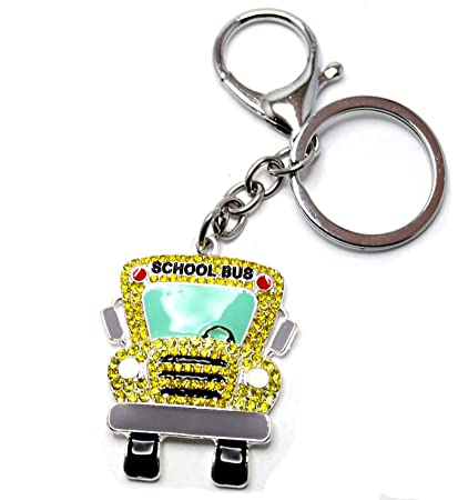 From the Heart YELLOW SCHOOL BUS Key Chain is Embellished with Yellow  Crystal Rhinestones.Perfect 881acc7c1