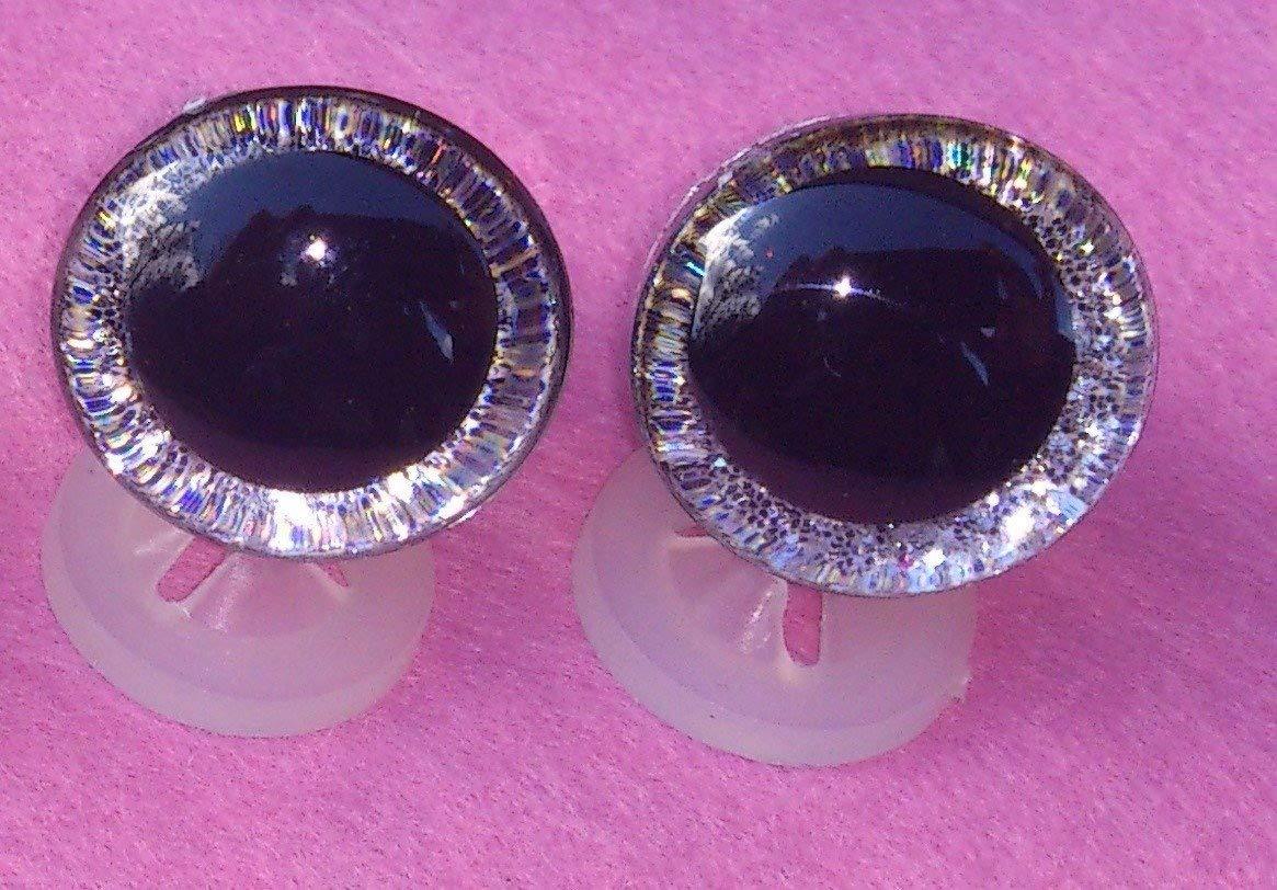 Lot de 4paires de yeux–3D avec embrasses–20mm–En plastique de sécurité Yeux pour ours en peluche ou de Celloexpress®