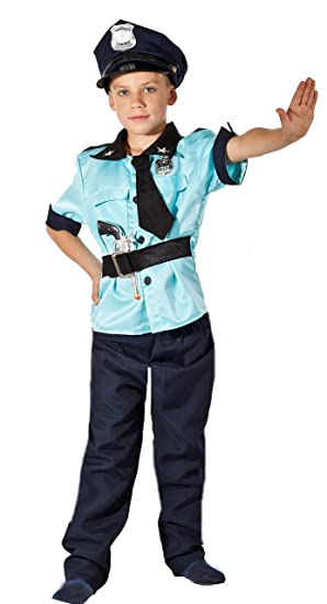 Magicoo 3 Teiliges Polizei Kostum Kinder Jungen Faschingskostum
