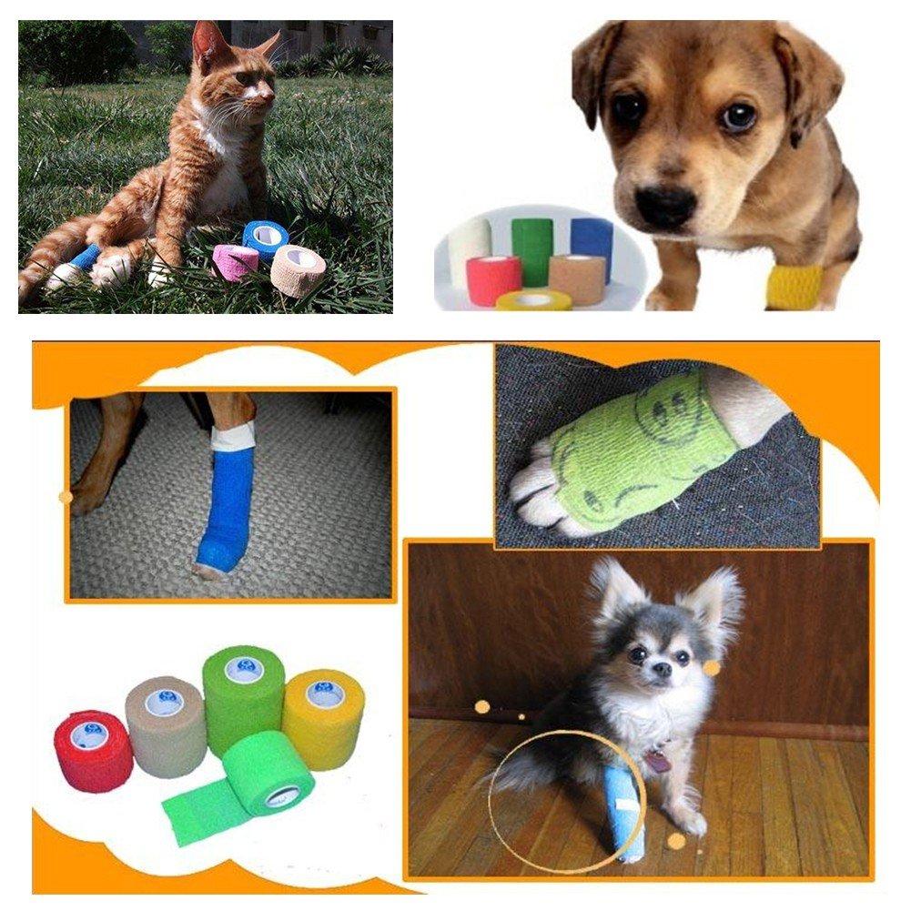 PanDaDa Pet Bandage Self-stick Pet Dog Cat Injury Care Bandage Non-slip Puppy Health Care Bandage by PanDaDa (Image #6)
