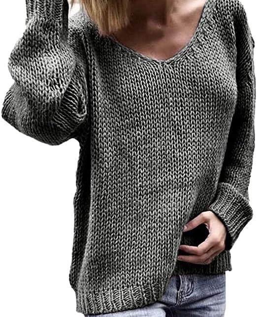 Women Zipper V Neck Crop Top Tee Knit Long Sleeve Plain Sweater Slim Jumper Tops