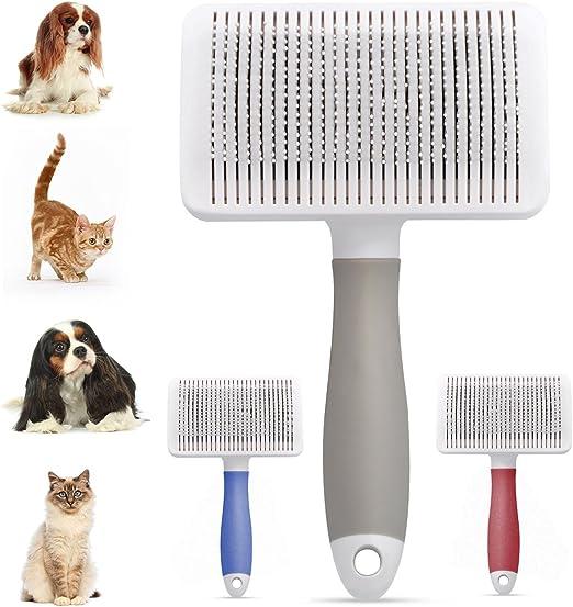 Cepillo Perros y Gato, Peine Mascotas, Cepillo para Quitar El Pelo Muerto de Perros y Gatos con Púas Flexible de Acero Inoxidable, Peine de limpiar Mascotas y Dar Masaje: Amazon.es: Productos para