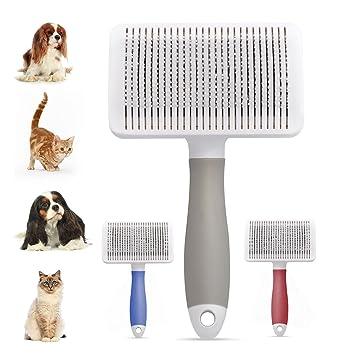 Cepillo Perros y Gato, Peine Mascotas, Cepillo para Quitar El Pelo Muerto de Perros