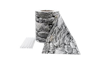 ILESTO PVC Sichtschutzstreifen Für Zäune U2013 Sichtschutz Für Ihren Garten,  35m U2013 Stein Optik