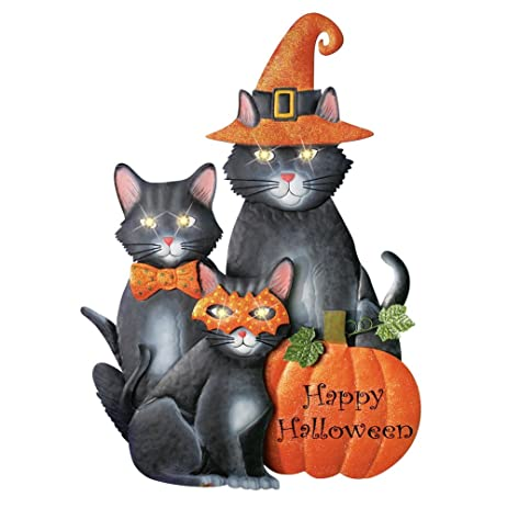 Amazon.com : Decorative Lighted Halloween Cats Yard Stake, 28