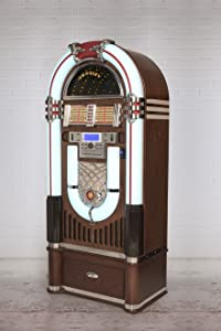 "Crosley Full Size Bluetooth CR1206A-ST CD Jukebox w/ Storage Base Stand 58"" High"