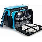 YONOVO Picknickrucksack Picknicktasche für 2-4 Personen (Himmelblau - 4 Person)