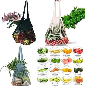 Multifunktionale Einkaufsnetz Netze Tasche Kartoffelsack Baumwollmischung Bag