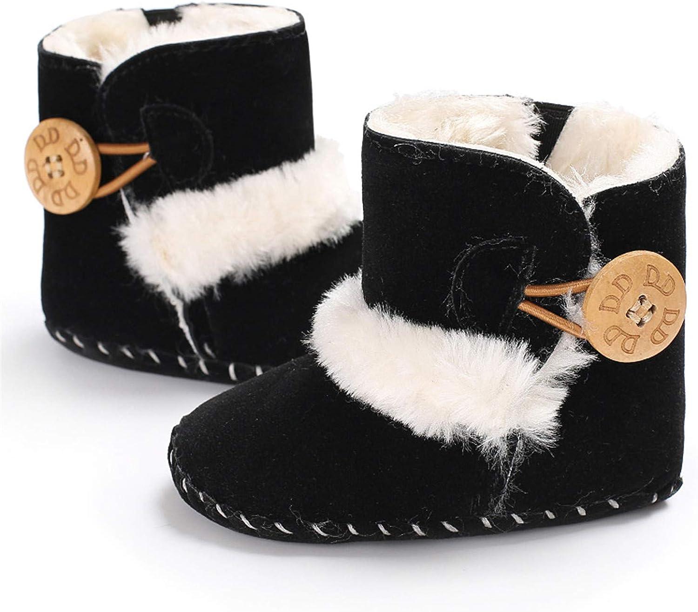 quyysvnvqt Cute Baby Shoes Fashion Infant Baby Girl Winter Bowknot Anti-Slip Prewalker Toddler Shoes Boot Black 11cm