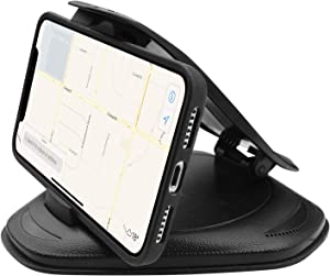 Macally Car Phone Holder Dashboard Non-Slip, Cell Phone Car Mount for Dash Pad Mat, Compatible with iPhone 11 Pro Max XS XR X 8 8+ 7 7+ 6 Samsung Galaxy Note Smartphones and GPS (MDASHCLAMP)