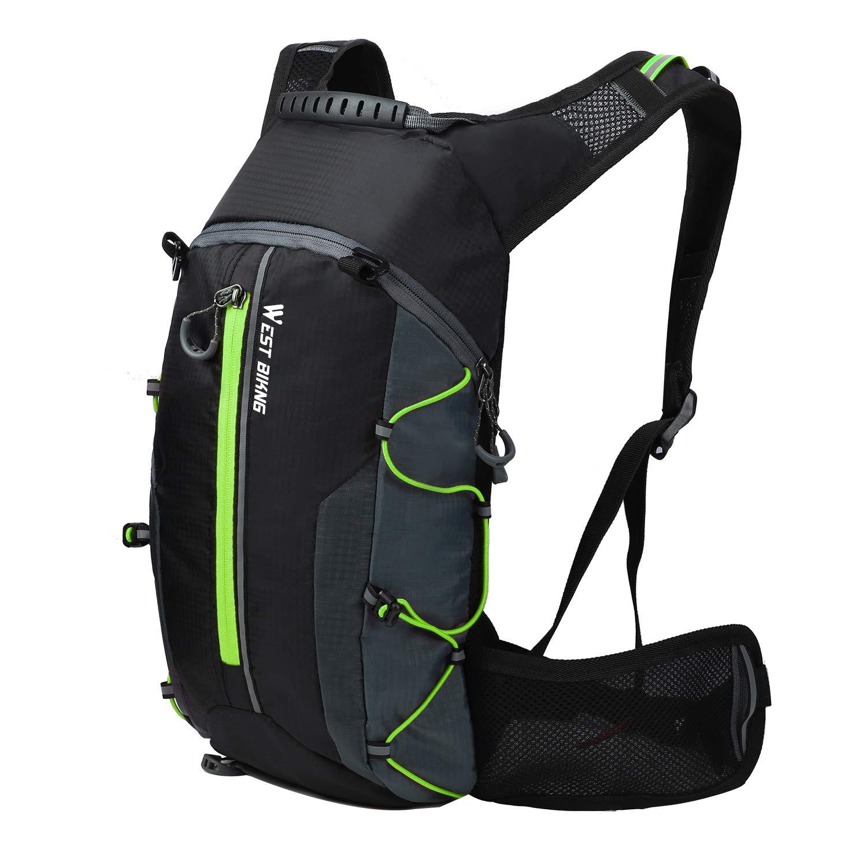 サイクリングバックパック 防水 軽量 ミニ自転車バッグ タクティカルハイドレーションパック アウトドアスポーツバッグ キャンプ ハイキング ランニング 旅行 登山用 4色  グリーン B07KD1SDZ5