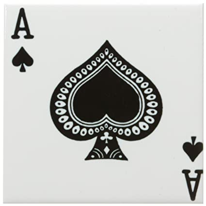 spade playing card images  Amazon.com: 7dRose ct_7_7 Ace of Spades Playing Card ...