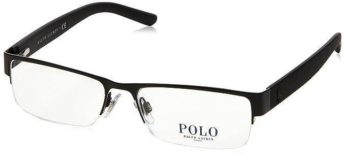 Ralph Lauren POLO 0PH1148 Monturas de gafas, Matte Black, 54 para ...