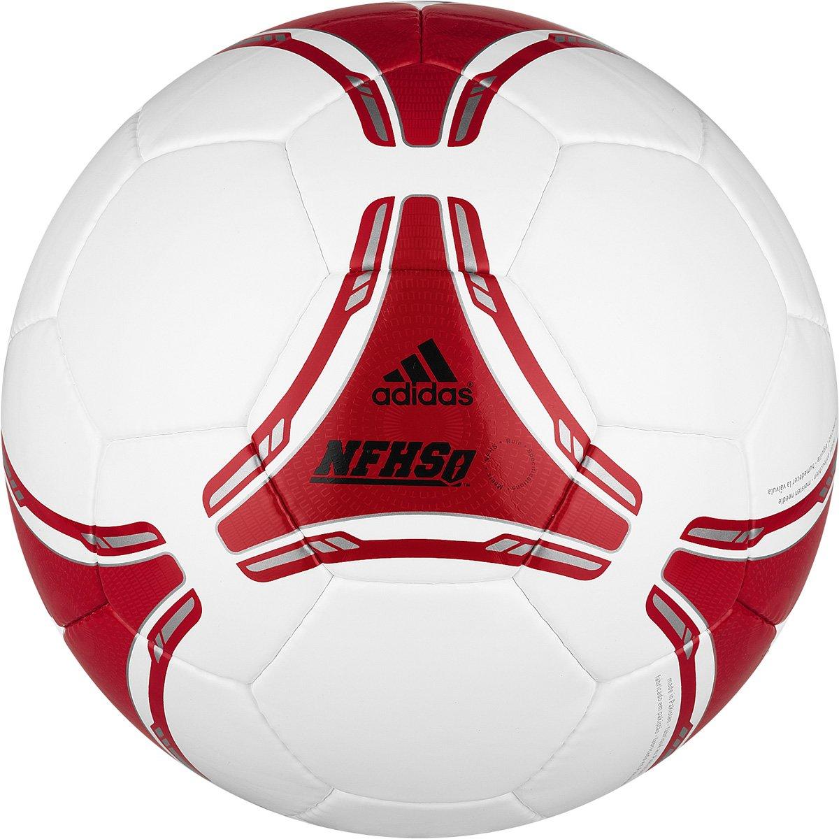 Adidas Fifa 2012 NFHSクラブボールホワイト、ライトスカーレット) B005AH7XGMSize 5