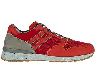 Chaussures baskets sneakers homme en daim r261 allacciato ganci Hogan Rebel JNCyR2L