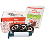 Easy Fermenter + Easy Weight Combo Pack: Fermenting In Jars Not Crock Pots! Make Sauerkraut, Kimchi, Pickles Or Any Fermented Probiotic Foods. 3 Lids, 3 Weights, Pump & Printed Recipe Book …