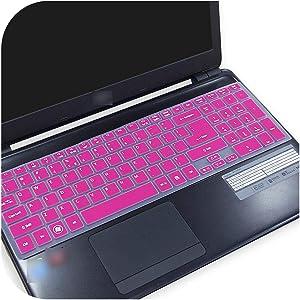 15 Inch Ultra Thin Keyboard Cover Protector Skin for Acer Aspire E5 521 E5 521G E5 551 E5 551G E5 571 E5 571G V5 561 V5 561Pg-Rose-