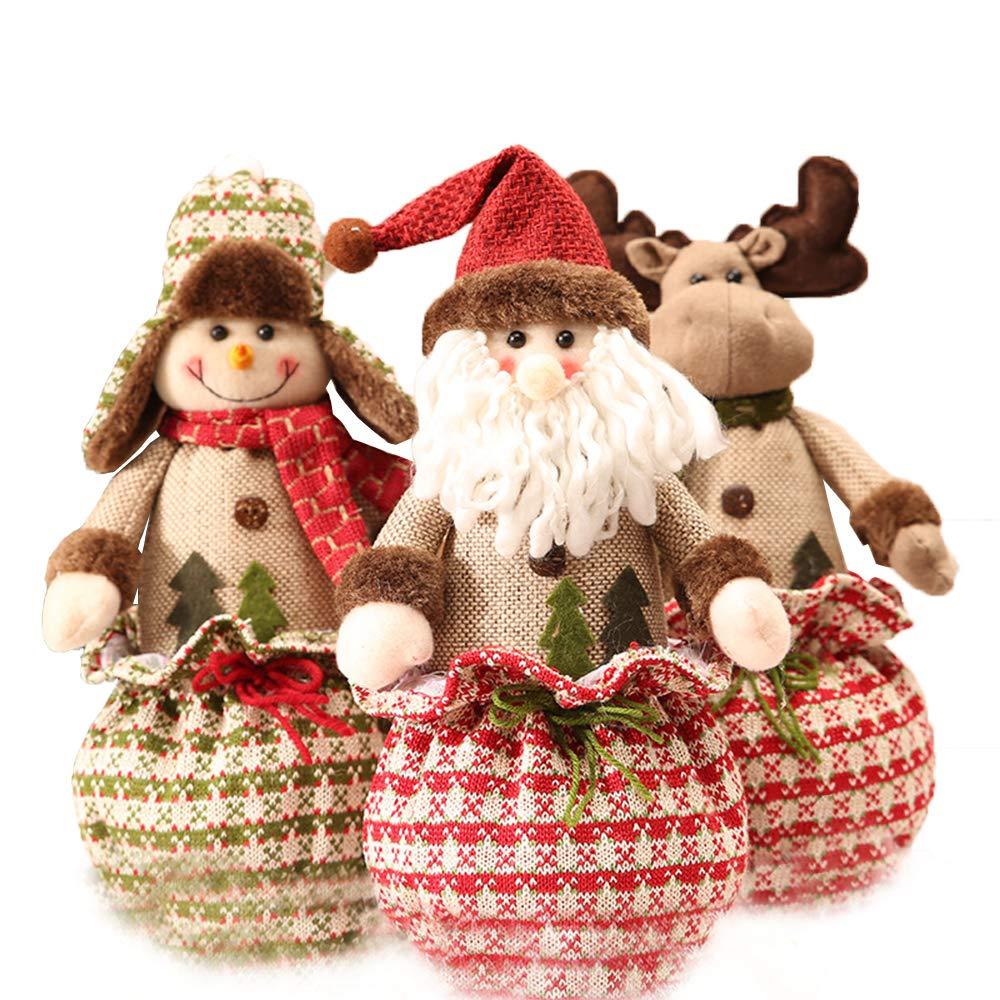 Bambole di Natale,Retro Bambola del Sacchetto del Regalo di Natale,Decorazione del Desktop per finestre Regalo di Natale