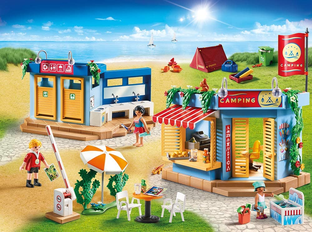 For Children Ages 4+ PLAYMOBIL Family Fun 70087 Large Campground