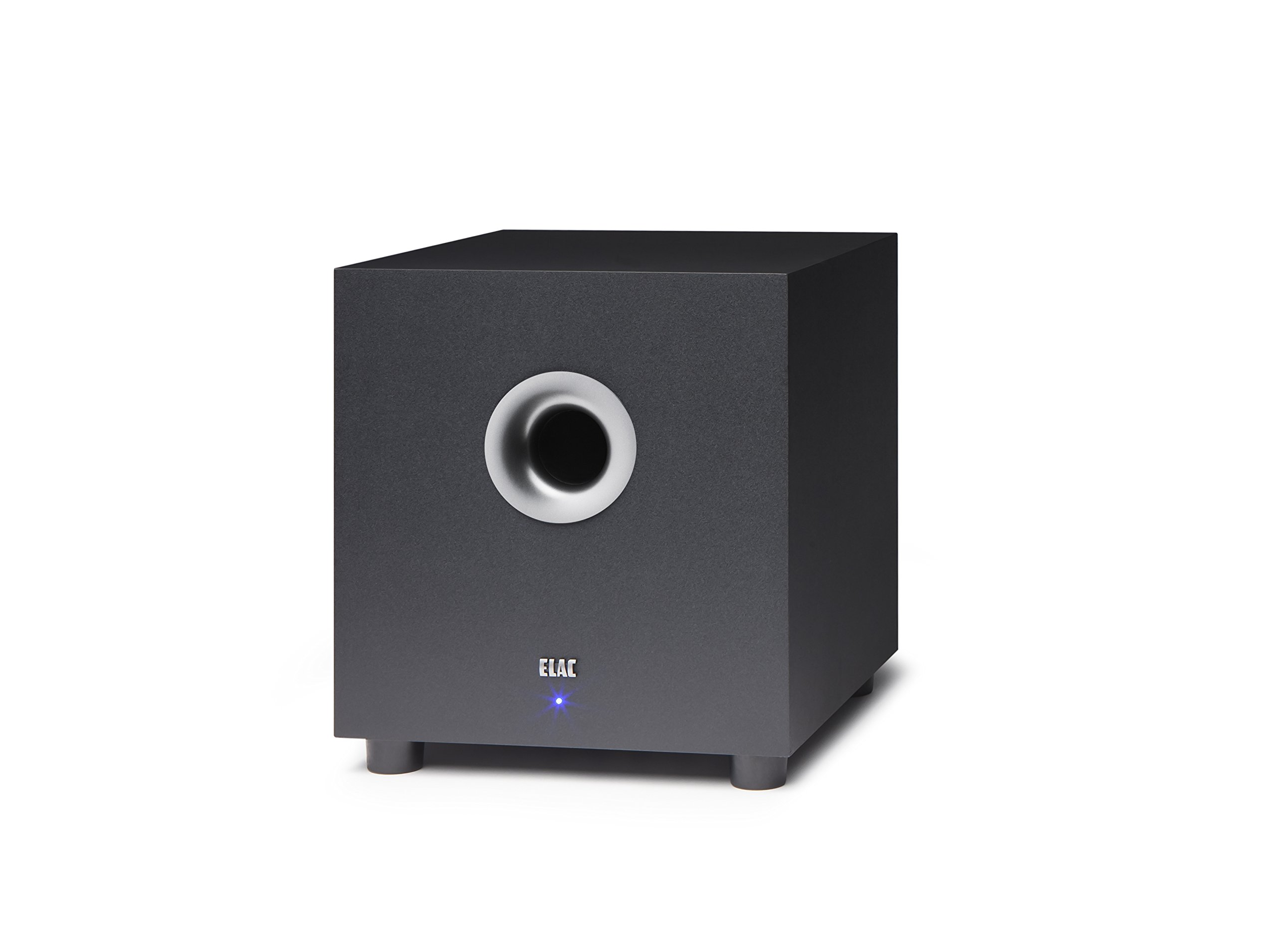 ELAC S8 Debut 100 Watt 8'' Powered Subwoofer by Andrew Jones (DS81-BK) by Elac