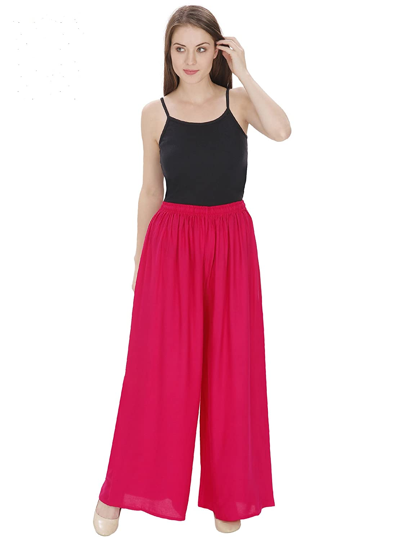 Damen Mode Women's Rayon Solid Palazzo