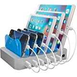 Hercules Tuff Multi Charger Organizer Docking Station for Multiple Devices 6 Short Mixed Cables Included for Smart Phones Tab