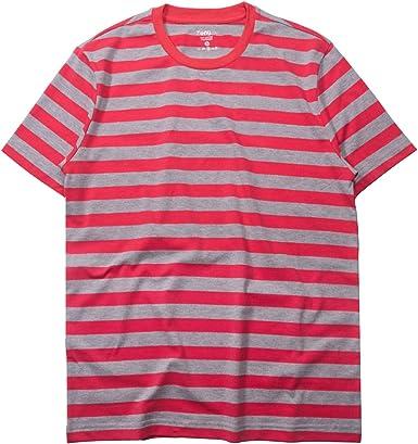 Camiseta básica de manga corta para hombre, de algodón y elastano, cuello redondo, para hombre