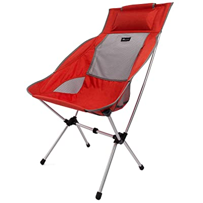 MOON LENCE Compact Camping Chair High Back Ultralight Portable Folding Backpacking Chair Summer Camping-Super Breathable : Sports & Outdoors