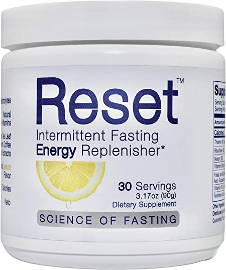 RESET Optimized Fasting Energy, 5 High Grade Electrolytes, Himalayan Pink Salt, 7 B-Complex Vitamins, 72 Trace Minerals, Green Tea Leaf Extract, Green Coffee Bean Extract, Pro Keto