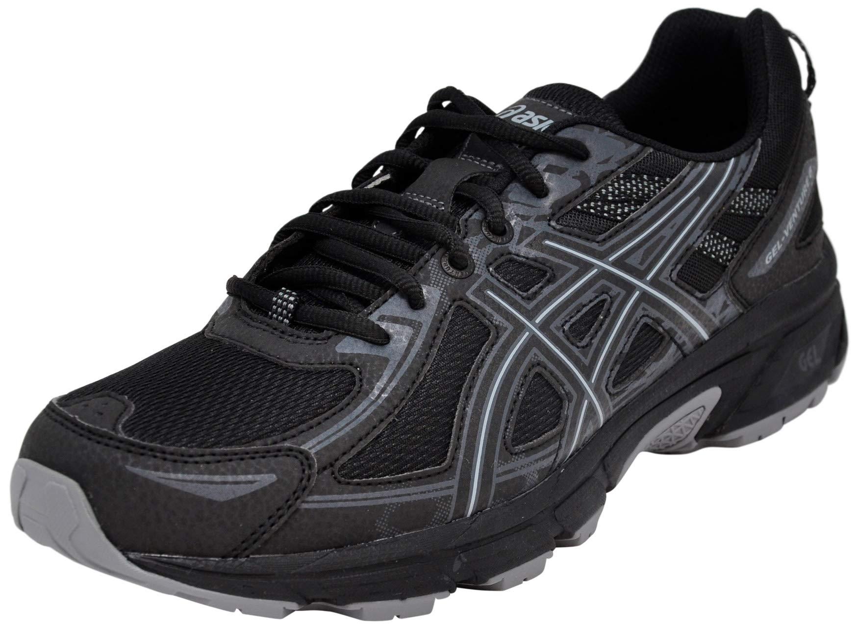 ASICS Men Gel-Venture 6 Running Shoe, Black/Black, 9.5 M US