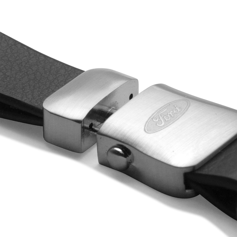 Ford Focus Genuine Black Leather Strap Detachable Key Chain