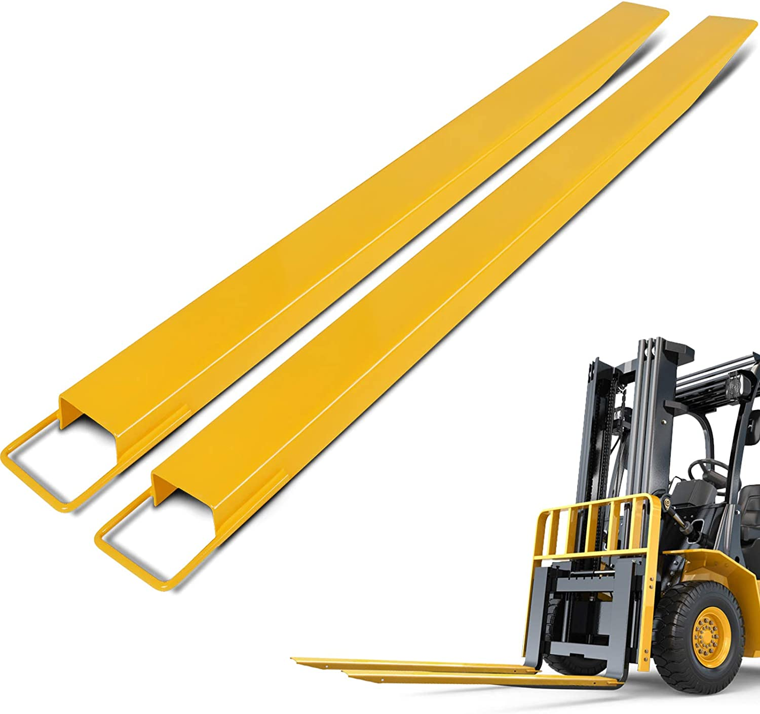 Amazon Com Bestequip Fork Extensions 84inch Length Pallet Fork Extensions 4 5inch Width Forklift Extensions Heavy Duty Steel Pallet Forklift Extensions 1 Pair For Forklift Lift Truck Forklift Loaders Home Improvement