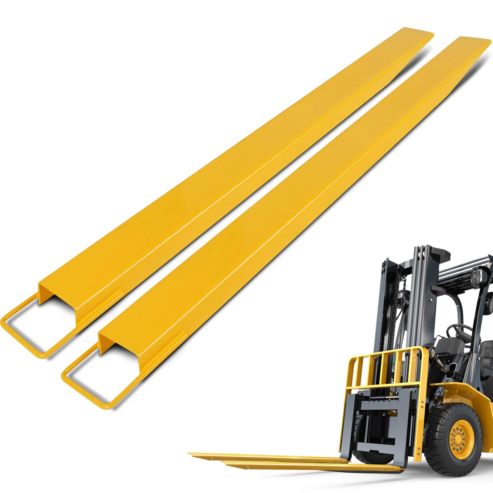 BestEquip 60 Inch x 4.5 Inch Pallet Forks Extensions Steel Pallet Forks Forklift Pallet Fork Extensions for Forklift Lift Truck (60'' x 4.5'')