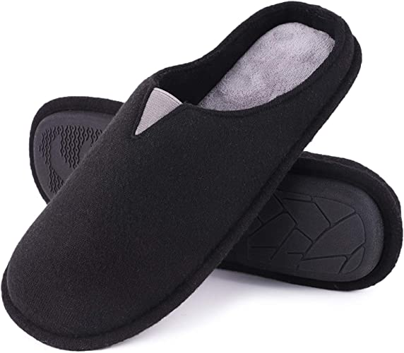 Men/'s Comfort Slipper High Deisity Foam House Slip-on Rubber Sole Clog Slippers