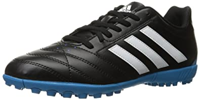 adidas Performance Men\u0027s Goletto V TF Soccer Shoe, Black/White/Solar Blue S