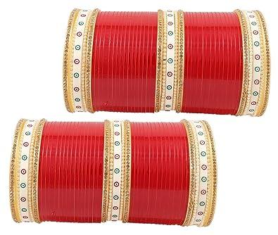Red Designer Chura Bridal Dulhan Wedding Punjabi Choora Fashion Bridal & Wedding Party Jewelry free Shipping Engagement & Wedding