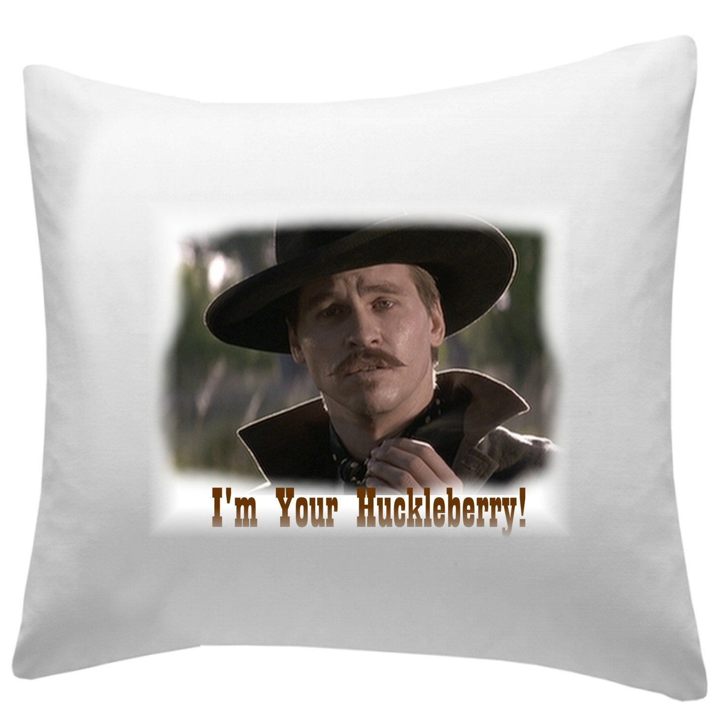 Movie Tombstone Throw Pillow 14 X 14 Doc Holliday I'm Your Huckleberry decorative couch pillow case