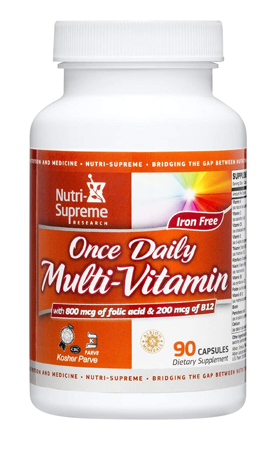 Nutri Supreme Research Once Daily Multi – Vitamin 90 Capsules