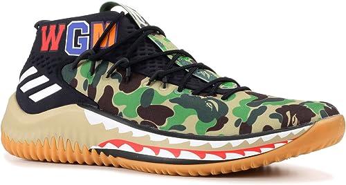 | adidas Dame 4 Bape AP9974 Green Camo | Team Sports