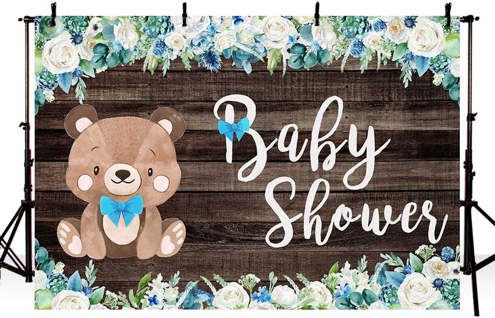 CdHBH 6x9ft Wooden Floor Lively Bear Toy Photo Studio Studio Photo Photography Props Children Birthday Photo Background Cloth Festival Venue Party Layout Wallpaper Home Decoration
