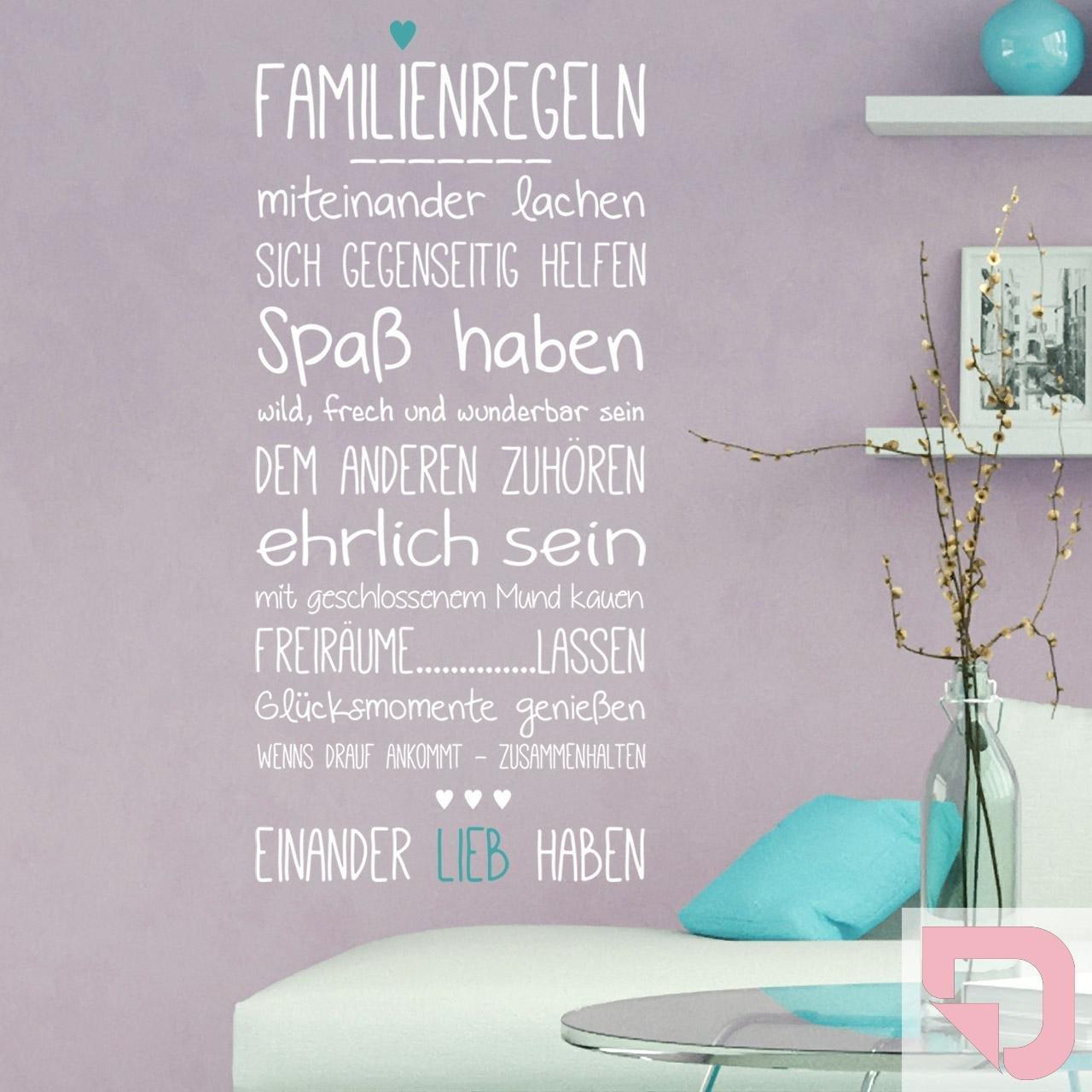 DESIGNSCAPE® Wandtattoo Familienregeln Familienregeln Familienregeln mit Herz 64 x 140 cm (B x H) Farbe 1  weiss DW801511-M-F5 B01H59BN3G Wandtattoos & Wandbilder 661025