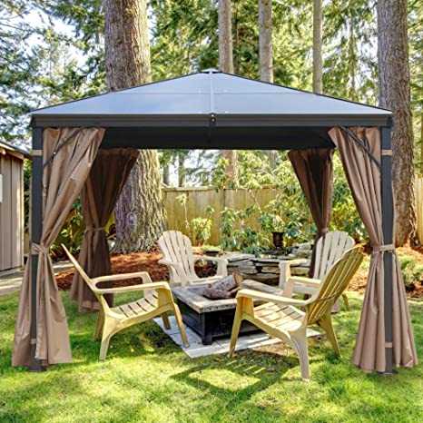 MASTERCANOPY Hardtop Patio Polycarbonate Gazebo - Best For The Insects Defence