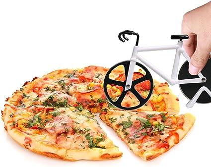 Cortador de pizza en forma de bicicleta de Tie langxian, de acero ...