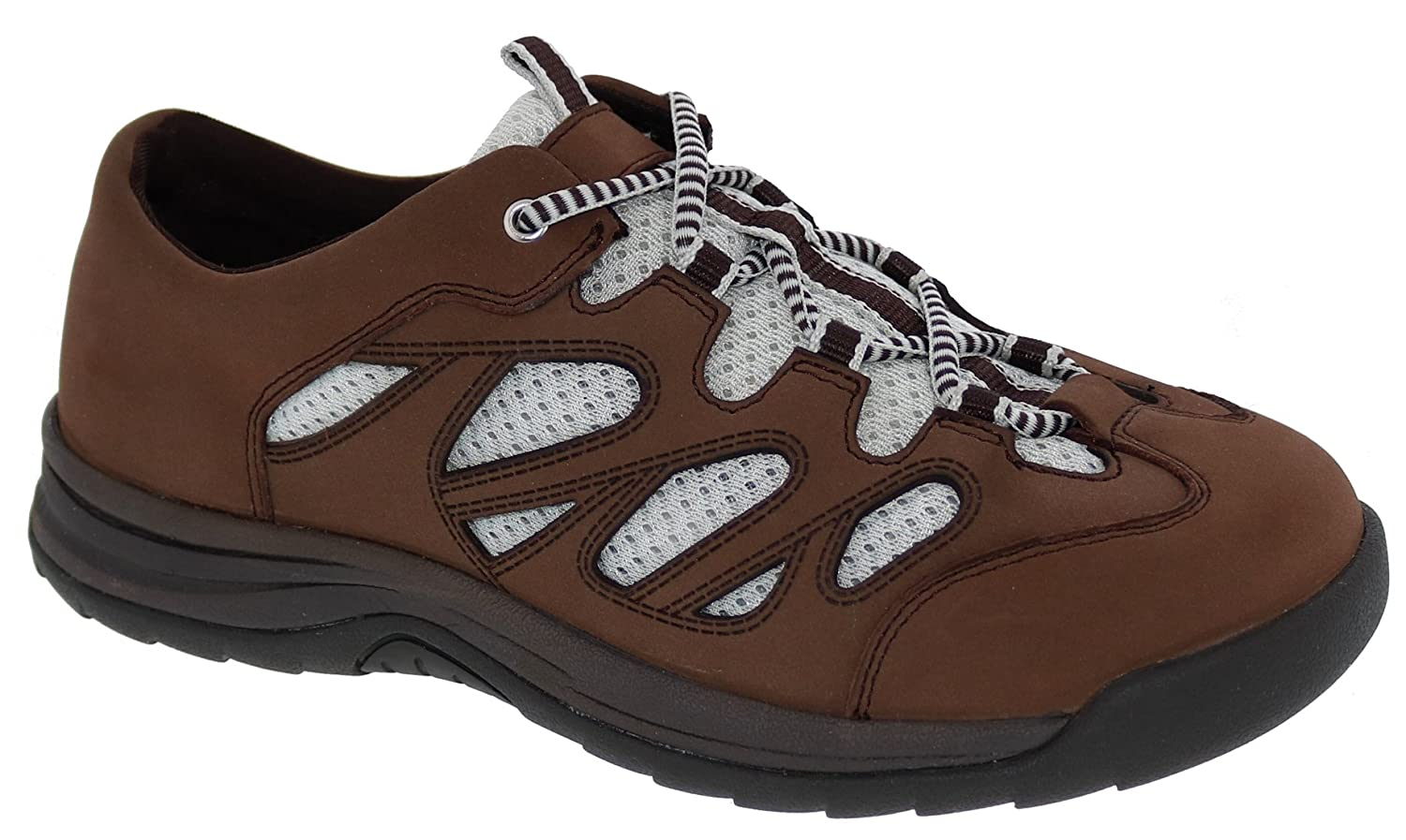 D Womens Therapeutic Diabetic Extra Depth Shoe: Brown//Nubuck 7 Wide Drew Shoe Andes Lace