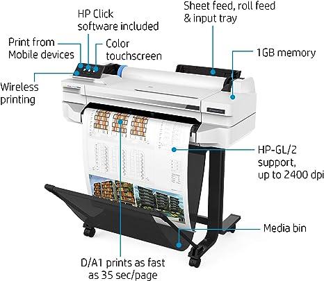 HP DesignJet T525 - Impresora de 24