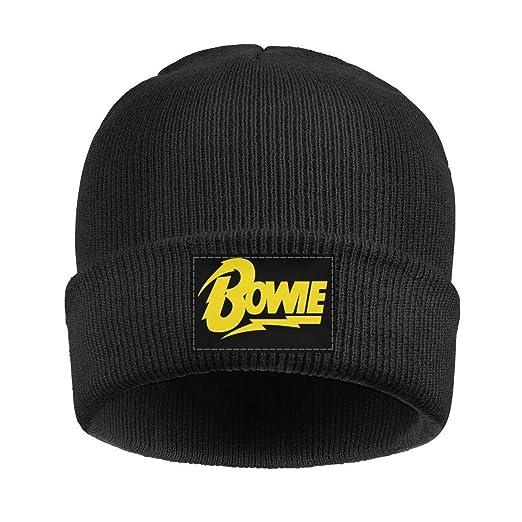 Designer Music David-Bowie-Black-Yellow-Black Beanie Hats Wool Warm Knit 36eaa90c41e