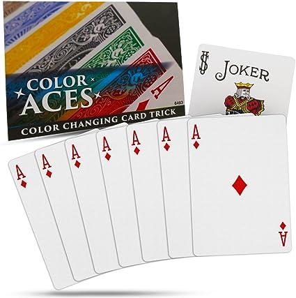 Amazon.com: Magic Makers Color Ases Tarjeta Magic Trick con ...