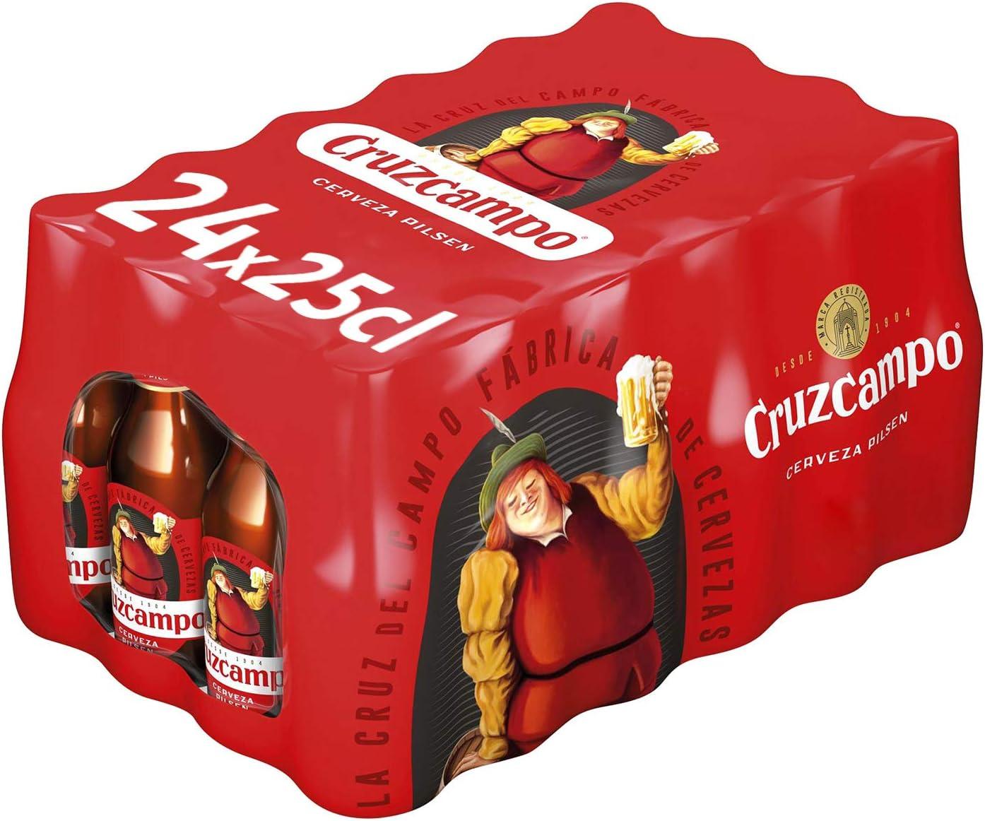 Cruzcampo Cerveza Pilsen - Caja de 24 Botellas x 250 ml - Total: 6 ...